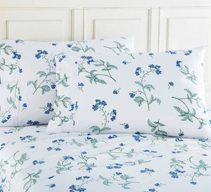 Soft White Myosotis Briteyarn Cotton Sheet and Pillowcase Set by Southshore Fine Linens Image 2