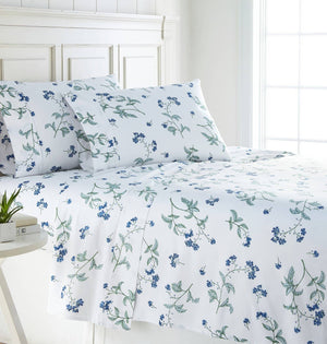 Soft White Myosotis Briteyarn Cotton Sheet and Pillowcase Set by Southshore Fine Linens Main Image