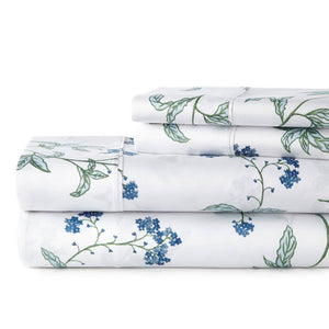 Soft White Myosotis Briteyarn Cotton Sheet and Pillowcase Set by Southshore Fine Linens Stack Image