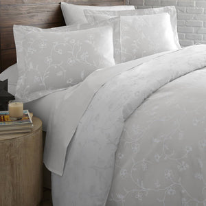 Sweet Brier Cotton Sateen Lunar Grey Comforter and Sham set by Southshore Fine Linens Image 2