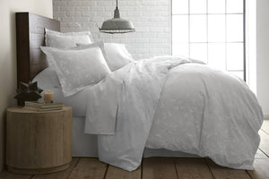 Sweet Brier Cotton Sateen Lunar Grey Comforter and Sham set by Southshore Fine Linens Main Image