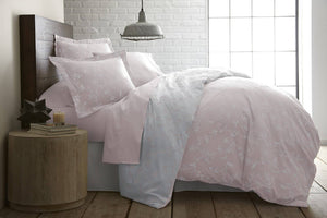 Sweet Brier Cotton Sateen Pastel Pink Comforter and Sham set by Southshore Fine Linens Main Image
