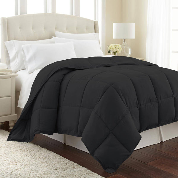 All-Season Classic Plush Down Alternative Comforters by Vilano Springs in Black