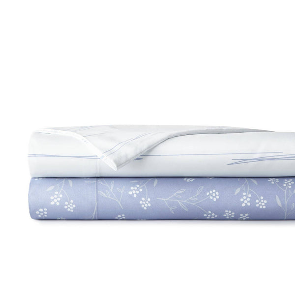 Soft and Comfortable Blossoms and Horizon Microfiber Sheet and Pillowcase Set by Southshore Fine Linens Stack Image