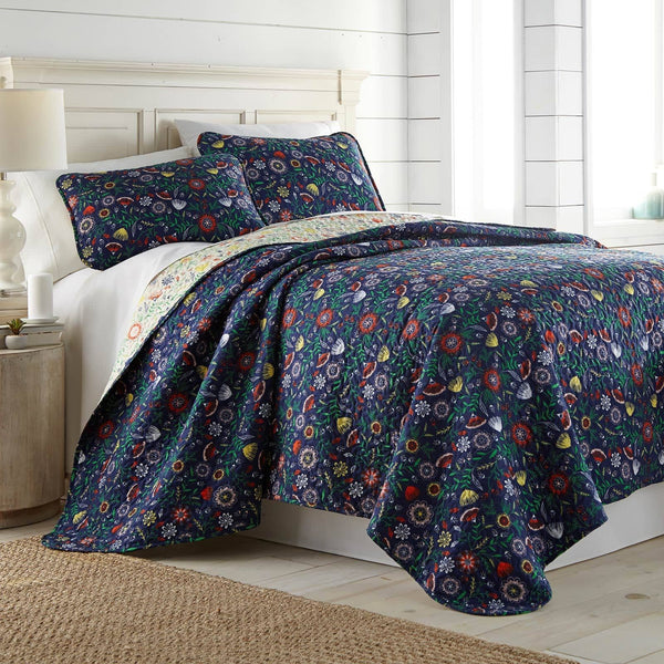 Boho Bloom Collection Reversible Quilt Set