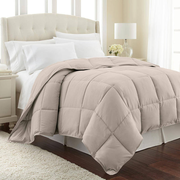 All-Season Classic Plush Down Alternative Comforters by Vilano Springs in Bone