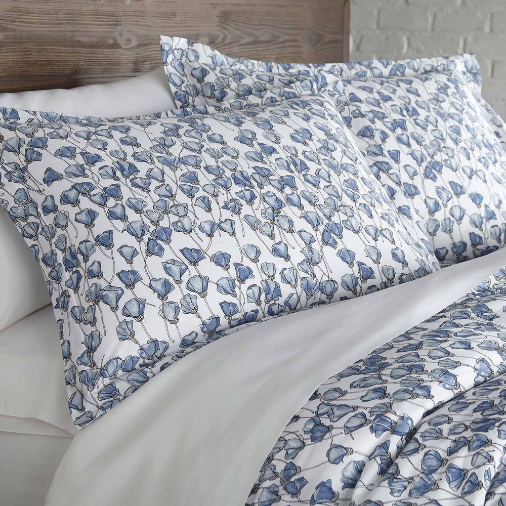Forevermore Cotton Duvet Cover Set in Blue