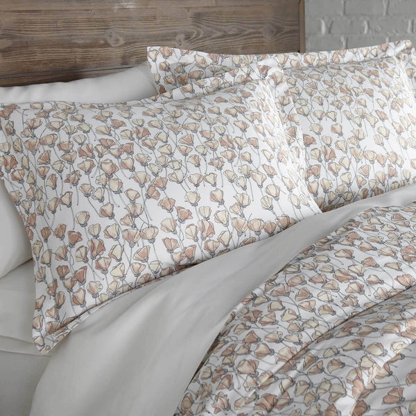 Forevermore Cotton Duvet Cover Set in Blush