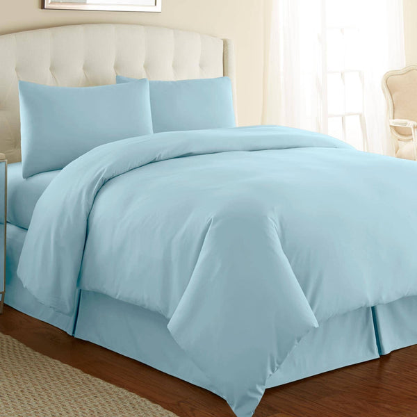 Briteyarn - 300 TC 100% Cotton Extra Long Staple Sateen Duvet Cover Set in Blue
