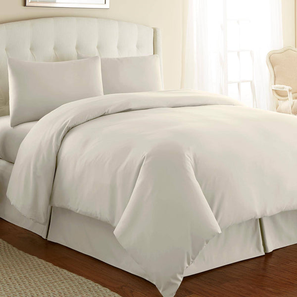 Briteyarn - 300 TC 100% Cotton Extra Long Staple Sateen Duvet Cover Set in Off White