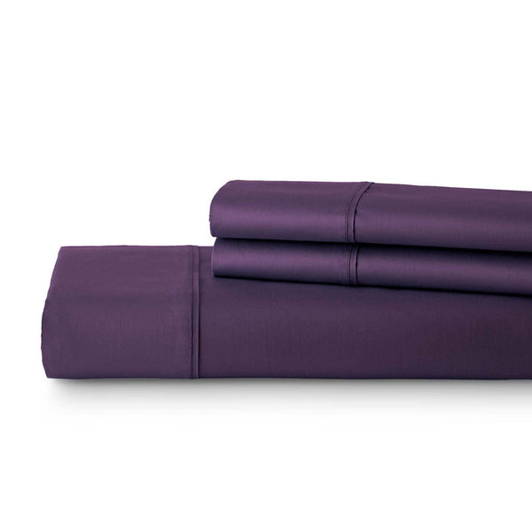Briteyarn - 300 TC 100% Cotton Extra Long Staple Sateen Duvet Cover Set in Purple
