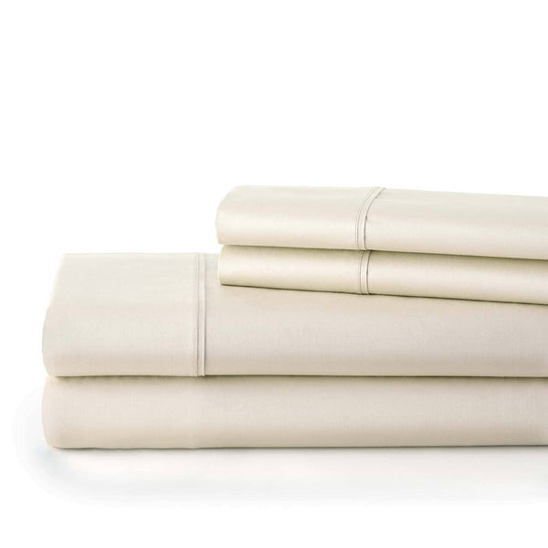 Briteyarn - 300 Thread Count 100% Cotton Extra Deep Pocket Sheet Sets in Off White