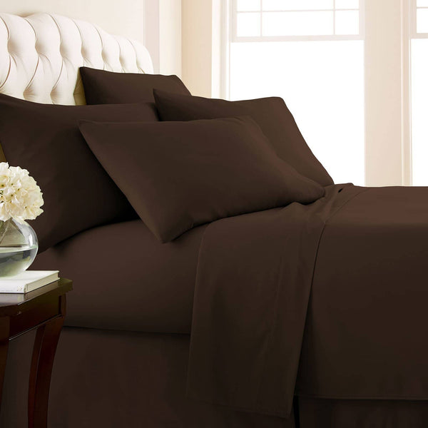 Comfortable & Luxurious Extra Deep Pocket 6-Piece Sheet Set by Vilano Springs