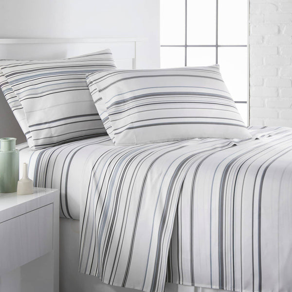 Coastal Stripes Printed Sheet Sets in Black Stripes