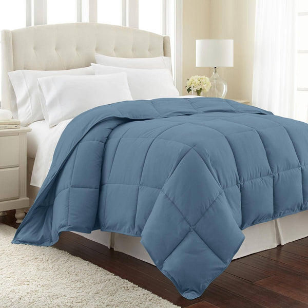 All-Season Classic Plush Down Alternative Comforters by Vilano Springs in Coronet Blue