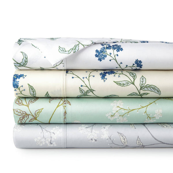 Soft Myosotis Briteyarn Cotton Sheet and Pillowcase Set by Southshore Fine Linens Stack Image