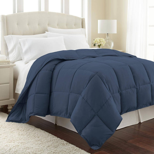 All-Season Classic Plush Down Alternative Comforters by Vilano Springs in Dark Blue