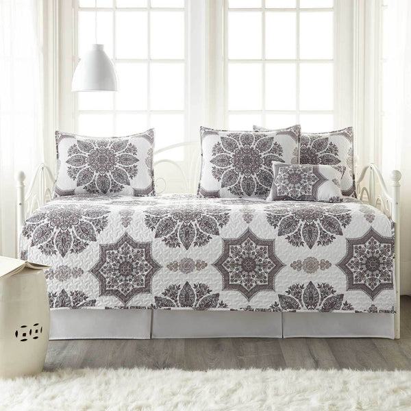 Infinity Daybed Bedding 6-Piece Set in Gray