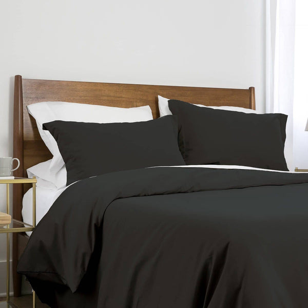Southshore Basics Ultra-Soft and Comfortable Duvet Cover Set in Black