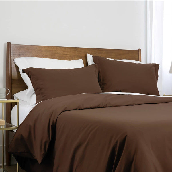 Southshore Basics Ultra-Soft and Comfortable Duvet Cover Set in Brown