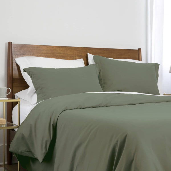 Southshore Basics Ultra-Soft and Comfortable Duvet Cover Set in Dark Green
