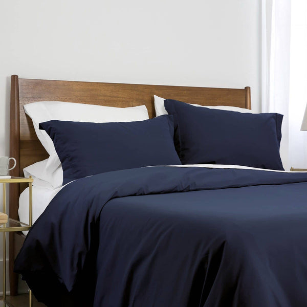 Southshore Basics Ultra-Soft and Comfortable Duvet Cover Set in Dark Blue