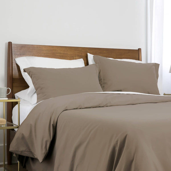 Southshore Basics Ultra-Soft and Comfortable Duvet Cover Set in Dark Taupe