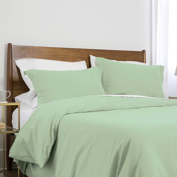 Southshore Basics Ultra-Soft and Comfortable Duvet Cover Set in Light Green