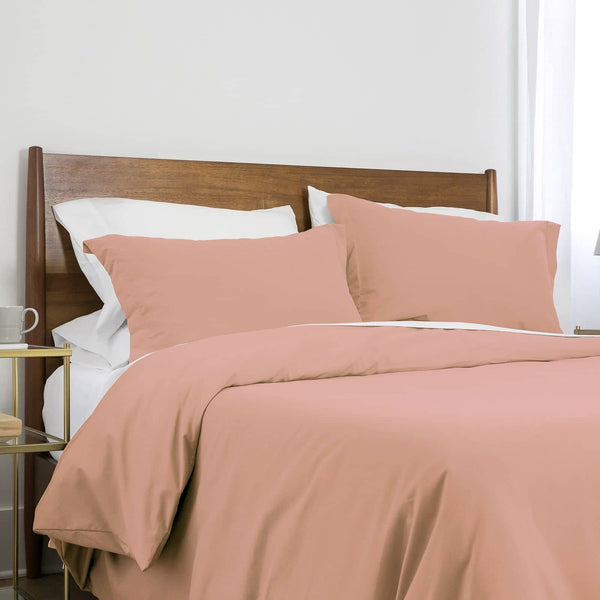 Southshore Basics Ultra-Soft and Comfortable Duvet Cover Set in Peach