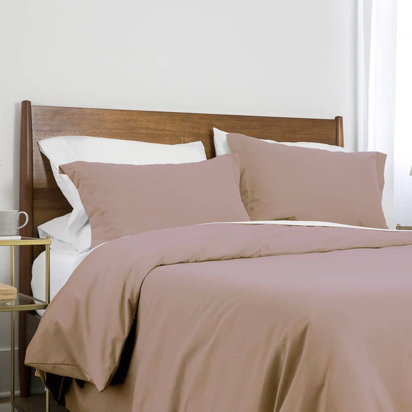 Southshore Basics Ultra-Soft and Comfortable Duvet Cover Set in Muted Mauve