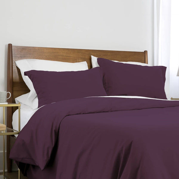 Southshore Basics Ultra-Soft and Comfortable Duvet Cover Set in Purple