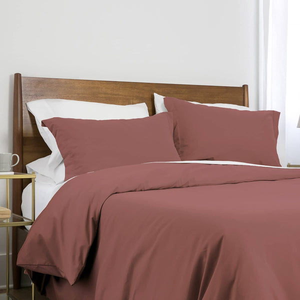 Southshore Basics Ultra-Soft and Comfortable Duvet Cover Set in Marsala