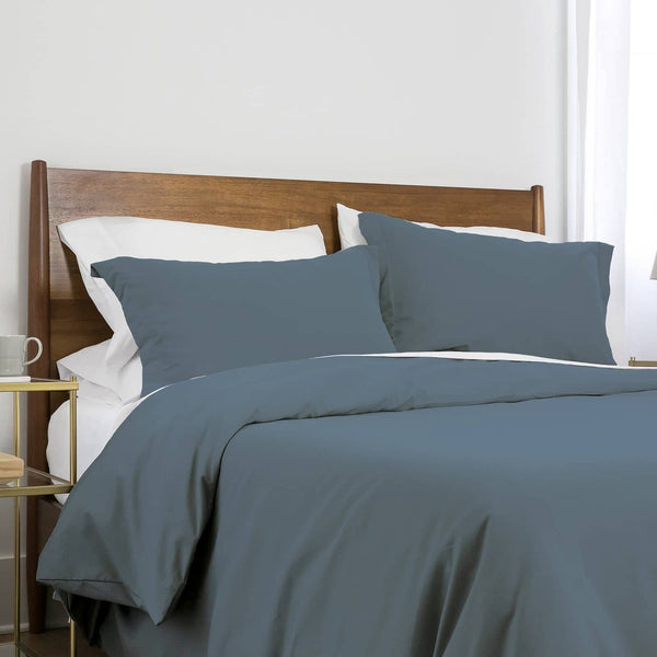 Southshore Basics Ultra-Soft and Comfortable Duvet Cover Set in Steel Blue