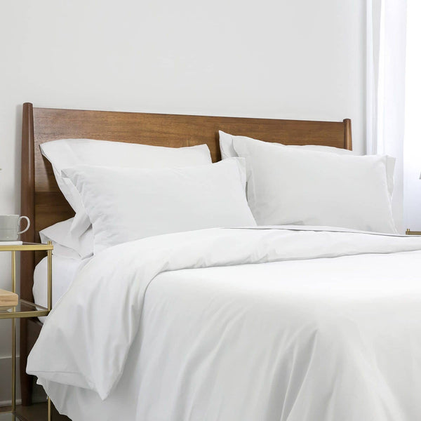 Southshore Basics Ultra-Soft and Comfortable Duvet Cover Set in Bright White