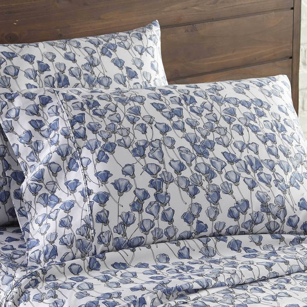 Forevermore 100% Cotton Sateen Pillow Cases in Blue