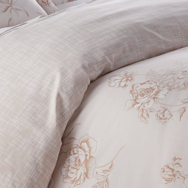 Harmony Reversible Duvet Cover Set in Taupe