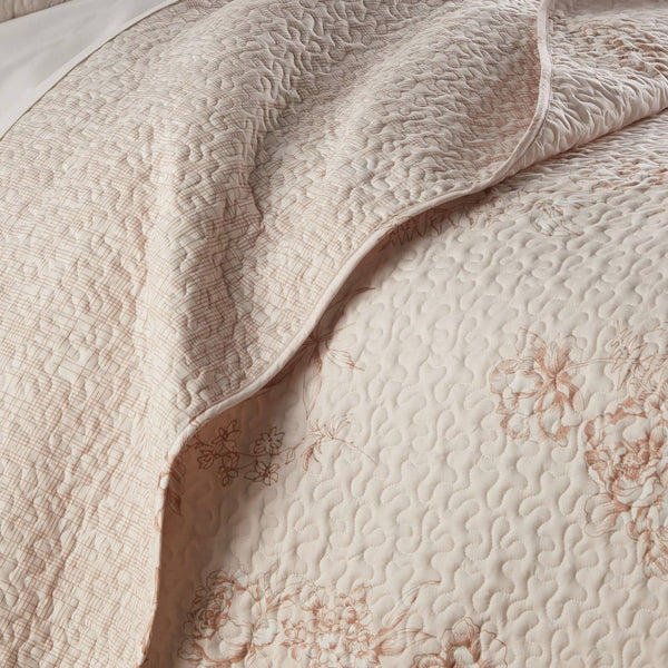 Harmony Lightweight Quilt Set in Taupe
