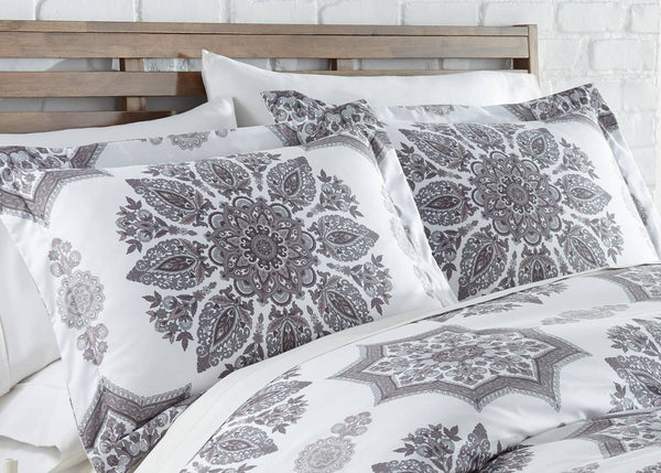 Infinity Comforter and Sham Set in Grey