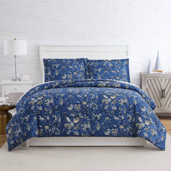 Blooming Blossoms Duvet Cover in Blue
