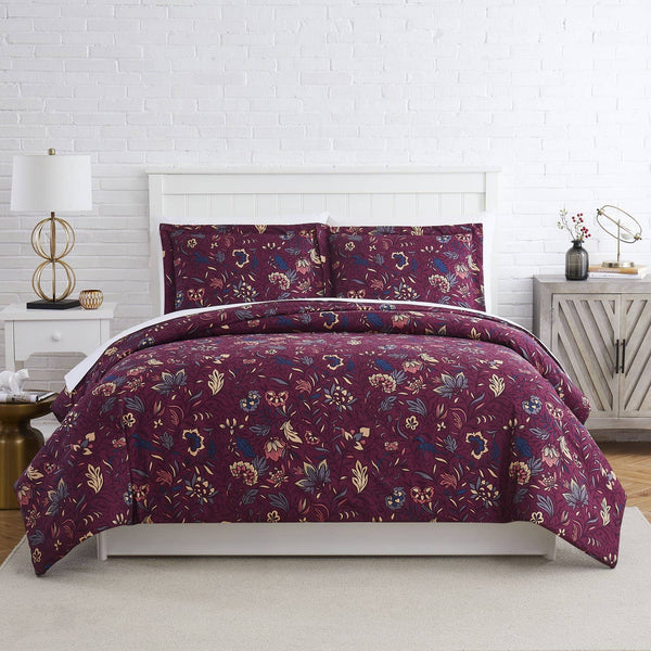 Blooming Blossoms Duvet Cover in Red