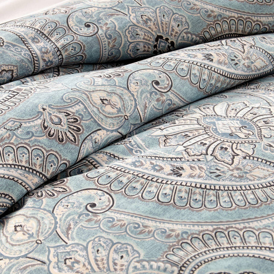 Reversible Aqua Pure Melody Microfiber Duvet Cover and Sham Set by Southshore Fine Linens Main Image