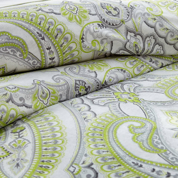 Reversible Green Pure Melody Microfiber Duvet Cover and Sham Set by Southshore Fine Linens Image 2