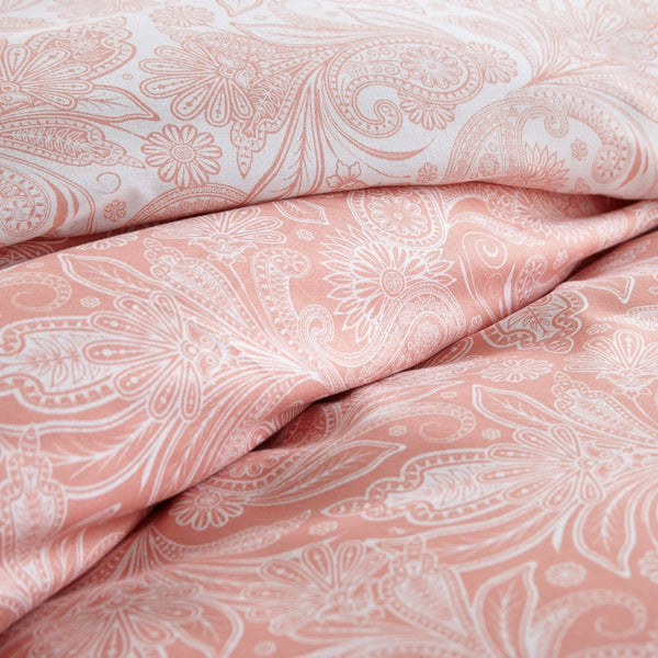 Reversible Coral Haze Perfect Paisley Microfiber Duvet Cover and Sham Set by Southshore Fine Linens Image 3