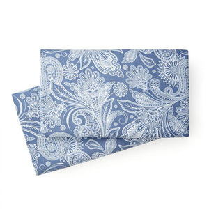 Soft and Comfortable Blue with White Perfect Paisley Microfiber Pillow Cases by Southshore Fine Linens Main Image