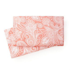 Soft and Comfortable Coral Haze with White Perfect Paisley Microfiber Pillow Cases by Southshore Fine Linens Main Image
