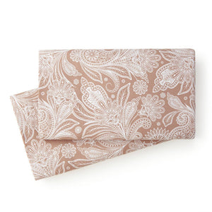 Soft and Comfortable Taupe with White Perfect Paisley Microfiber Pillow Cases by Southshore Fine Linens Main Image