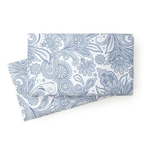 Soft and Comfortable White with Blue Perfect Paisley Microfiber Pillow Cases by Southshore Fine Linens Main Image