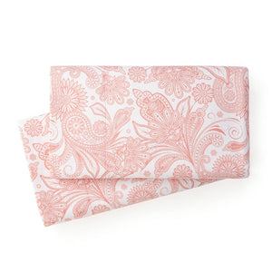 Soft and Comfortable White with Coral Haze Perfect Paisley Microfiber Pillow Cases by Southshore Fine Linens Main Image