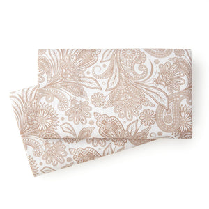 Soft and Comfortable White with Taupe Perfect Paisley Microfiber Pillow Cases by Southshore Fine Linens Main Image