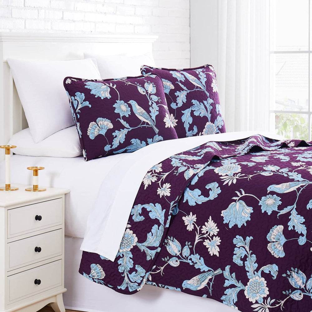 Early Spring Quilt Set in Purple